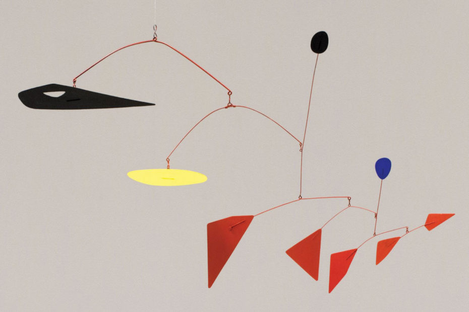 One of the first kinetic sculptures from Alexander Calder