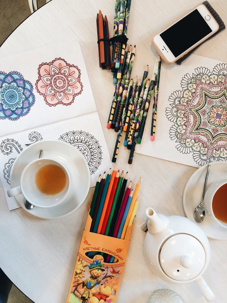 Mandala coloring book for relaxation