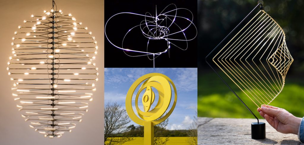 Mathematical kinetic sculptures made by Ivan Black