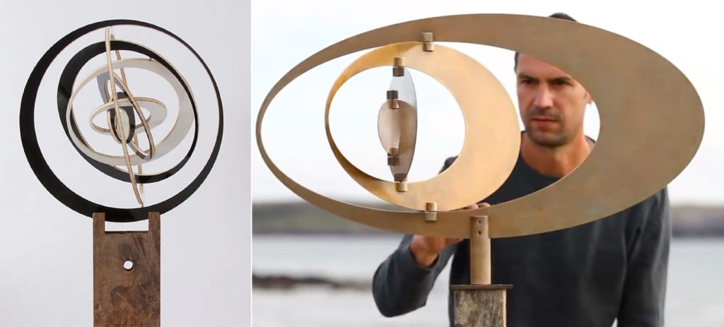 Metal artworks from Ivan Black that are operated by magnets
