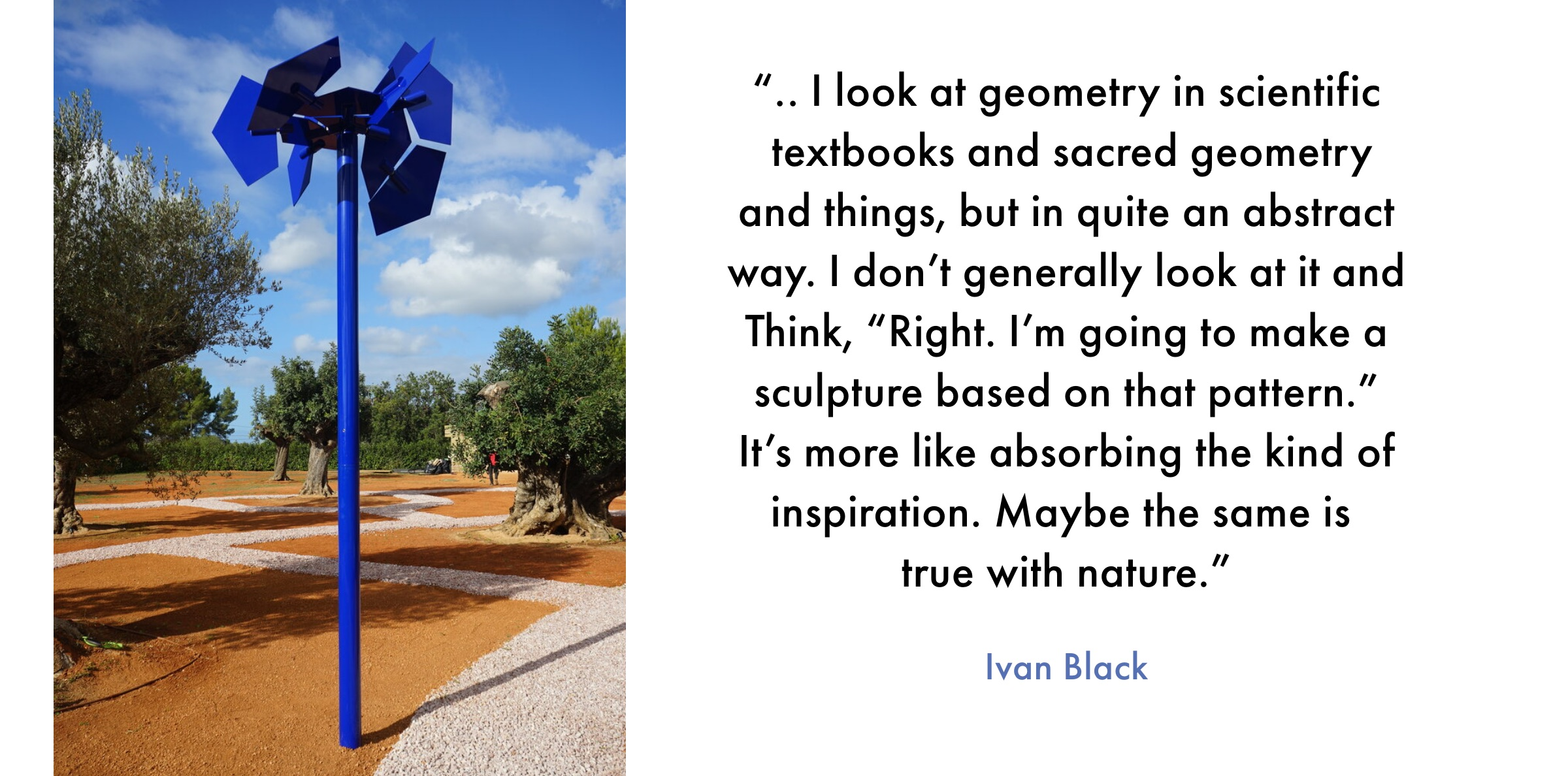 Inspirational quote from Ivan Black