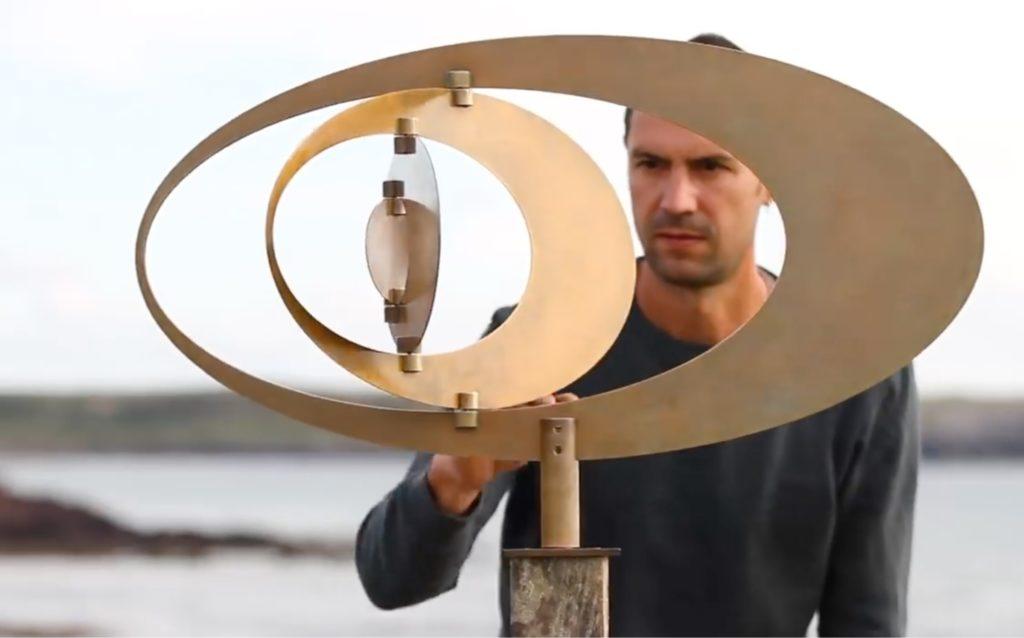 Kinetic outdoor sculpture by Ivan Black