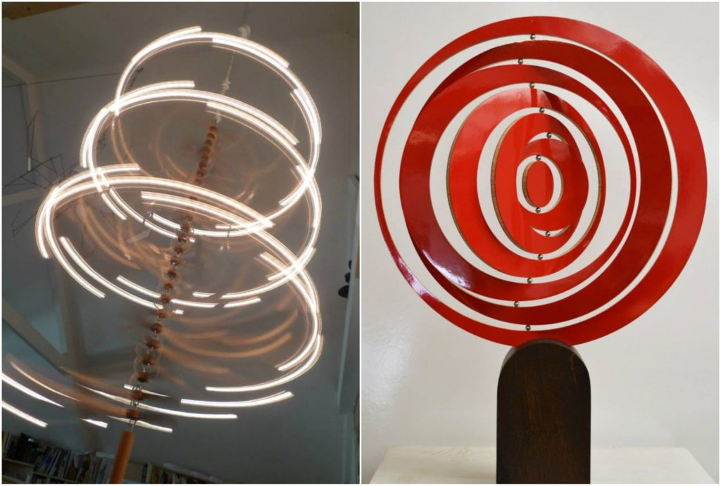 Kinetic sculptures made by Ivan black