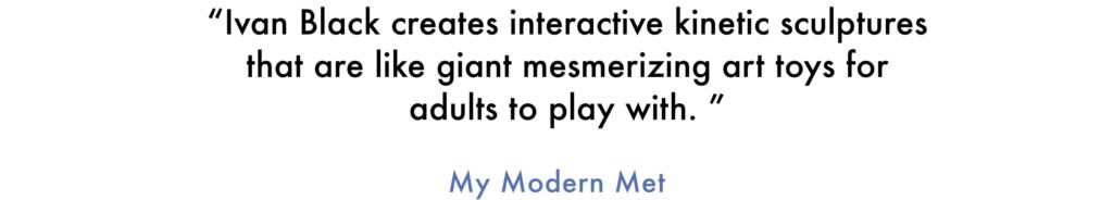 My Modern Met quote about the art of Ivan Black
