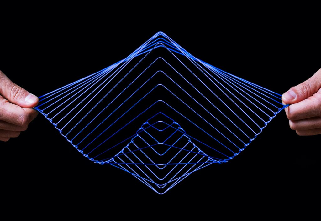 The Sapphire Square Wave kinetic spinner